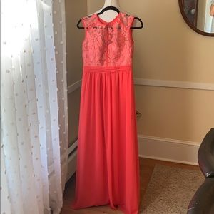 Little Mistress London Gown Size 6 in EUC in coral